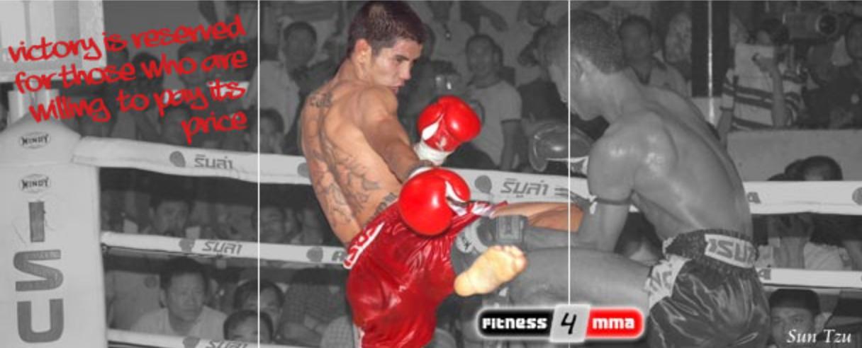 Thaiboxer im Ring